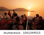 a ferry on the way to the ko... | Shutterstock . vector #1041349015