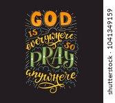 vector religions lettering  ... | Shutterstock .eps vector #1041349159