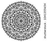 mandala vector design element.... | Shutterstock .eps vector #1041355654