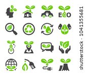 ecology icon set | Shutterstock .eps vector #1041355681