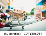 mini shopping cart contain...   Shutterstock . vector #1041356059