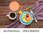 a cup of black coffee and tasty ... | Shutterstock . vector #1041366031