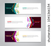 vector abstract design banner... | Shutterstock .eps vector #1041366154