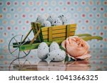 beautiful vintage style easter... | Shutterstock . vector #1041366325