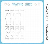 tracing lines. working pages...   Shutterstock .eps vector #1041369949