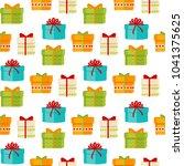 christmas seamless pattern... | Shutterstock .eps vector #1041375625