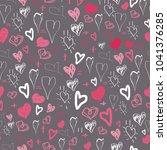 heart sketches  kids raster... | Shutterstock . vector #1041376285