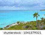 scenic sea view from the coast... | Shutterstock . vector #1041379321