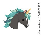 unicorn vector icon isolated on ... | Shutterstock .eps vector #1041382927