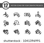 insurance vector icons for your ... | Shutterstock .eps vector #1041396991