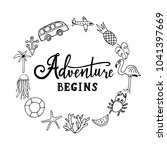 and so the adventure begins.... | Shutterstock .eps vector #1041397669