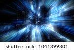 3d futuristic abstract business ... | Shutterstock . vector #1041399301