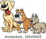 Cute Cartoon Dog Breeds. Vecto...