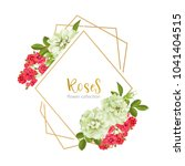 wedding invitation with wild... | Shutterstock .eps vector #1041404515