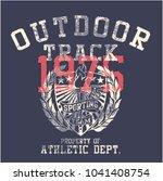 college outdoor track  sporting ... | Shutterstock .eps vector #1041408754