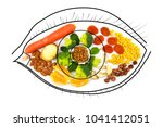 food for eye health and good... | Shutterstock . vector #1041412051