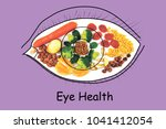 food for eye health and good... | Shutterstock . vector #1041412054
