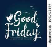 good friday vector illustration ... | Shutterstock .eps vector #1041415699