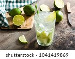 caipirinha cocktail in glass on ... | Shutterstock . vector #1041419869