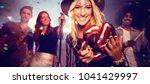 flying colors against portrait... | Shutterstock . vector #1041429997