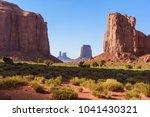 scenic drive on dirt road...   Shutterstock . vector #1041430321