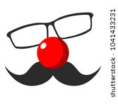 Glasses  Red Nose And Mustache...