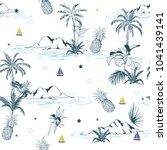 summer trendy bright seamless... | Shutterstock .eps vector #1041439141