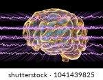 eeg electroencephalogram  brain ... | Shutterstock . vector #1041439825