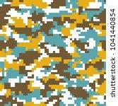 digital camouflage background.... | Shutterstock .eps vector #1041440854