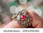 macro shot of silver engagement ... | Shutterstock . vector #1041450181