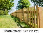 Woody Fence In Park