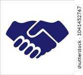 handshake vector icon. hands... | Shutterstock .eps vector #1041452767