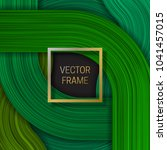 volumetric frame on saturated... | Shutterstock .eps vector #1041457015
