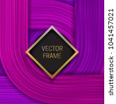 volumetric frame on saturated... | Shutterstock .eps vector #1041457021