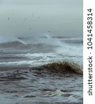Angry Ocean Waves During A...