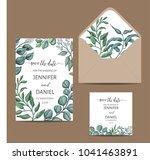 template for wedding invitation.... | Shutterstock .eps vector #1041463891