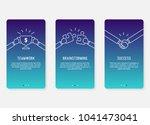 onboarding screens design in... | Shutterstock .eps vector #1041473041