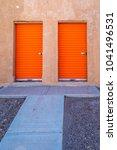 interesting doorway entrys | Shutterstock . vector #1041496531