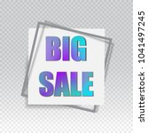 big sale square banner. black... | Shutterstock .eps vector #1041497245