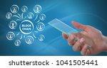 digital composite of block... | Shutterstock . vector #1041505441