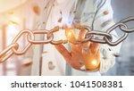 view of a weak link of a broken ... | Shutterstock . vector #1041508381