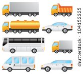 set of various vehicles... | Shutterstock .eps vector #104152325