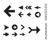 arrow icon set isolated on... | Shutterstock .eps vector #1041527251
