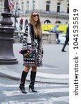 paris october 2  2017. street... | Shutterstock . vector #1041535519