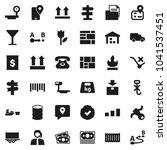 flat vector icon set   signpost ... | Shutterstock .eps vector #1041537451