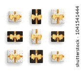 decorative gift boxes set with... | Shutterstock .eps vector #1041541444
