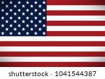 vector image of american flag | Shutterstock .eps vector #1041544387