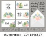 set of wedding invitations... | Shutterstock .eps vector #1041546637
