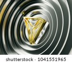 golden tron crypto currency... | Shutterstock . vector #1041551965