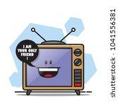 cartoon tv character. vector... | Shutterstock .eps vector #1041556381